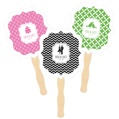Personalized Paddle Fans - MOD Pattern Theme - Wholesalewholesale/wedding-favors-eb/EB2354MDT_large1.jpg Wedding Supplies