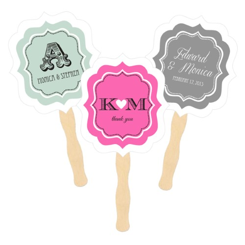 Personalized Paddle Fans - Wedding  - Wholesale200  Weddings
