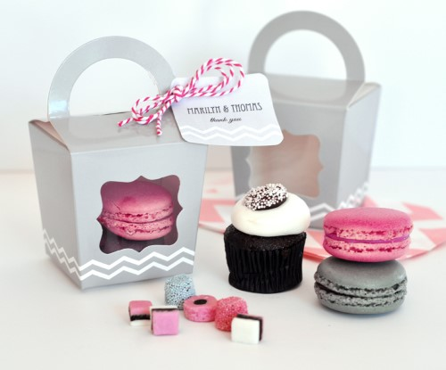 12 Cupcake and Treats Favor Tote Boxes baby shower favors