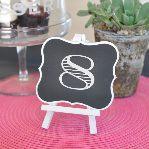 Framed Chalkboard Table Easels - Wholesale200  Weddings