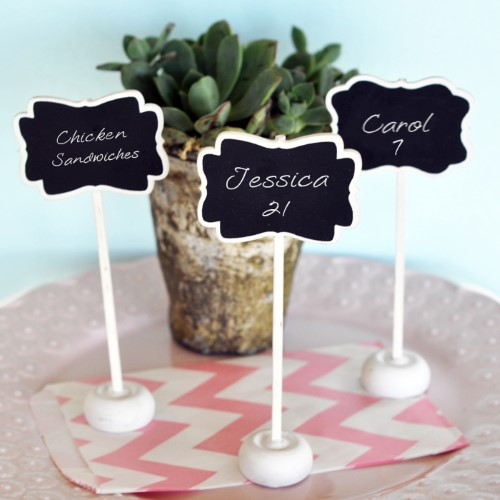 Framed Chalkboard Place Card Stands  - Wholesale200  Weddings