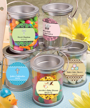 Design Your Own Baby Shower Communion Mini Paint Cans Favors baby shower favors