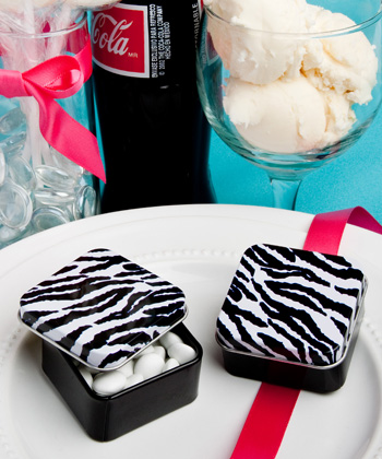 Zebra Stripe Design Mint Tins200  Weddings