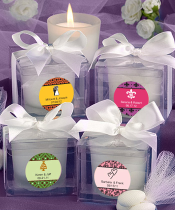Personalized Wedding Candle Favors200  Weddings