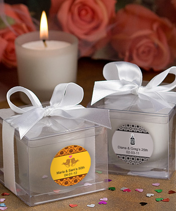 Personalized Anniversary Candle Favors200  Weddings