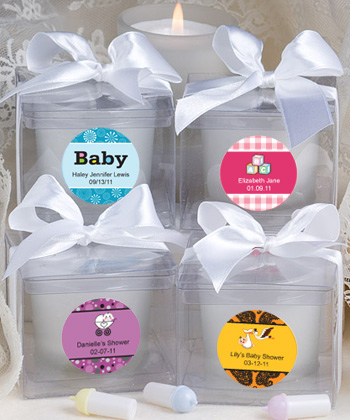 Personalized Baby Shower Candle Favors baby shower favors