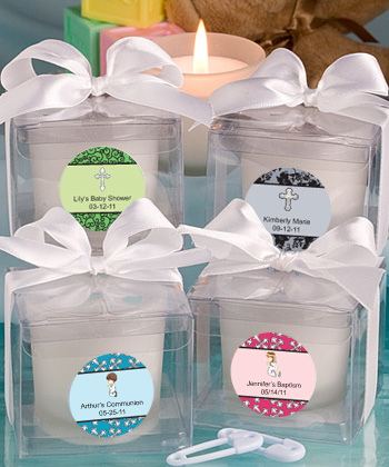 Personalized Candle Baptism Favors baby shower favors