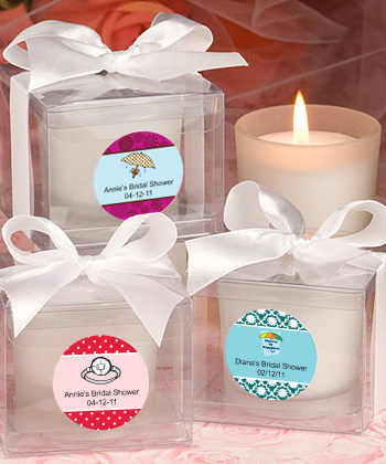 Personalized Candle Bridal Shower Favors  Weddings