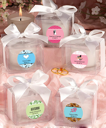 Personalized Candle Love Favors200  Weddings
