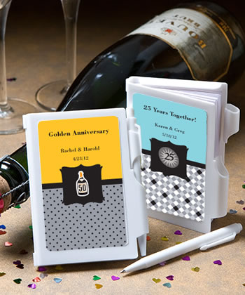 Personalized Notebook Anniversary Favors200  Weddings