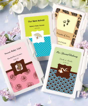 Personalized Notebook Baby Shower Favors baby shower favors