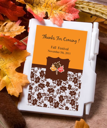 Personalized Notebook Fall or Autumn Favors200  Weddings