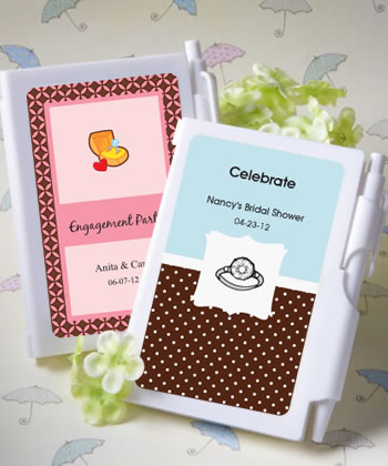 Personalized Notebook Bridal Shower Favors  Weddings