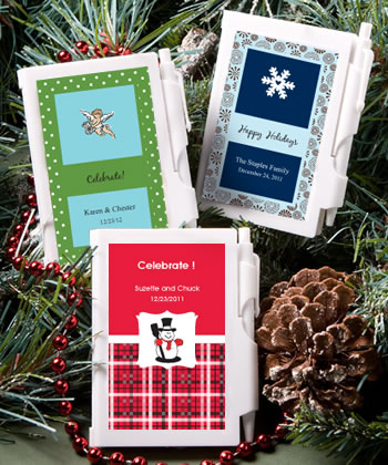 Personalized Notebook Winter Wedding Favors200  Weddings