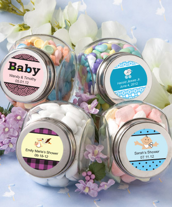 Personalized Glass Jar Baby Shower baby shower favors