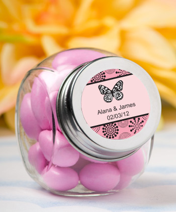 Personalized Glass Jar Butterfly200  Weddings