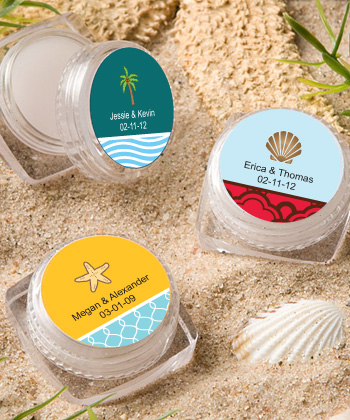 Personalized Lip Balm Beach Favors200  Weddings