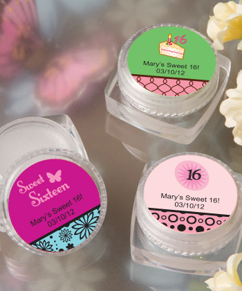 Personalized Lip Balm Sweet 16 Favors200  Weddings