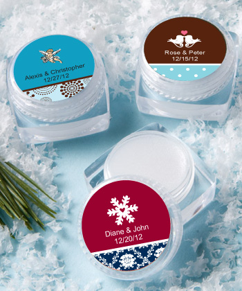 Personalized Lip Balm Winter Favors200  Weddings