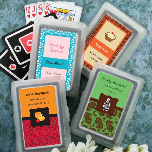Personalized Sweet 16 Playing Card Favors200  Weddings