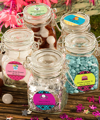 Personalized Sweet 16 Apothecary Jar Favors  Weddings