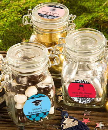 Personalized Apothecary Jar Anniversary Favors200  Weddings