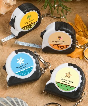 Personalized Fall Wedding Key Chain Measuring Tape Favors200  Weddings