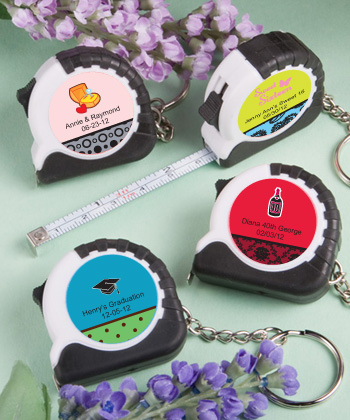 Personalized Sweet 16 Key Chain Measuring Tape Favors200  Weddings