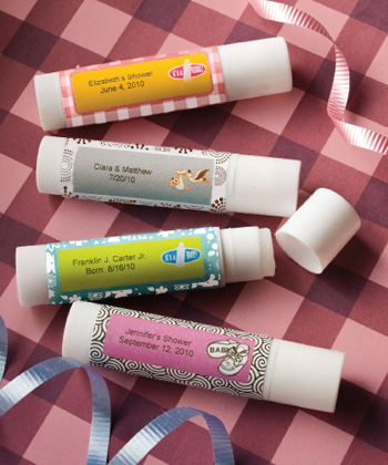 Personalized Baby Collection Lip Balm Favors baby shower favors