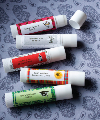 Personalized Sweet 16 Party Lip Balm Favors200  Weddings