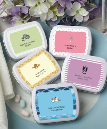 Personalized Baby Party Mint Tins baby shower favors