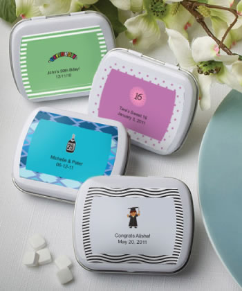 Personalized Sweet 16 Party Favor Mint Tins200  Weddings