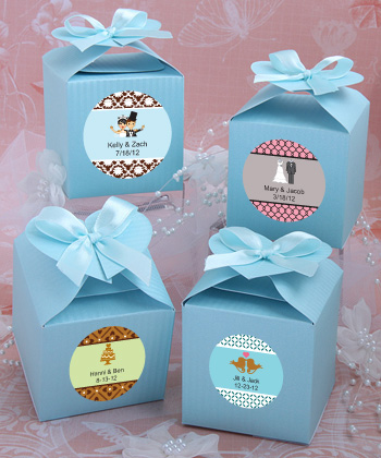 Design Your Own Collection Decorative Favor Boxes Blue Weddings