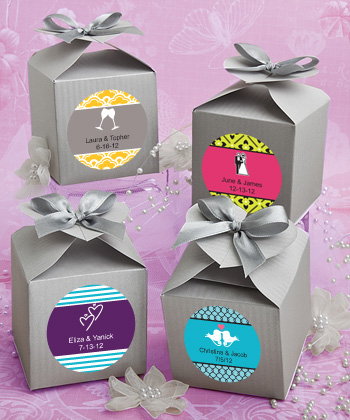 Design Your Own Favor Boxes Silver Weddings