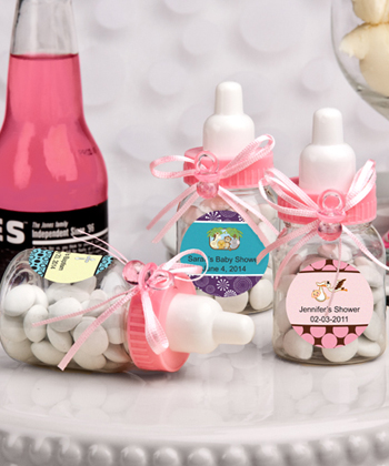 Design Your Own Collection Pink Baby Bottle Favors baby shower favors