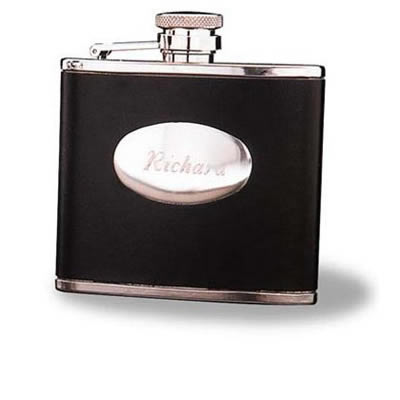 Stainless Steel 4 Oz. Leather Flask200  Weddings