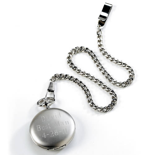 Brushed Silver Pocket Watch Weddings