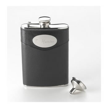 8 Oz. Leather Flask Weddings