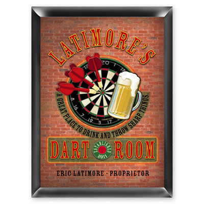 Darts Pub Sign - Personalized  Weddings