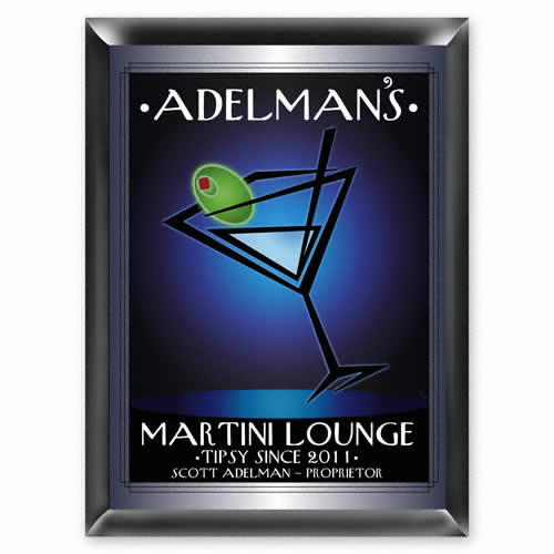 After-Hours Martini Lounge Custom Sign Weddings