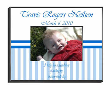 Personalized Baby Boy Frame baby shower favors