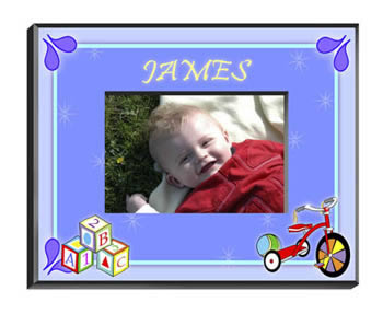 Personalized Baby Boy Blocks Frame baby shower favors