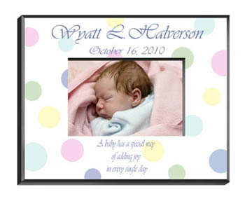 Personalized Baby Polka Dots Frame baby shower favors