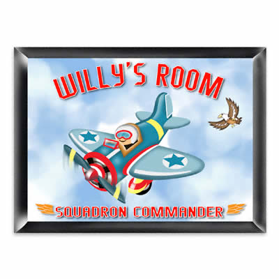 Personalized Fly-Boy Bedroom Sign200  Weddings