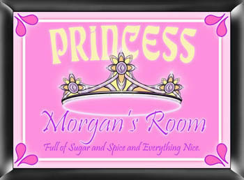 Girls Personalized Princess Bedroom Sign  Weddings