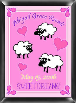 Counting Sheep Girls Personalized Bedroom Sign baby shower favors